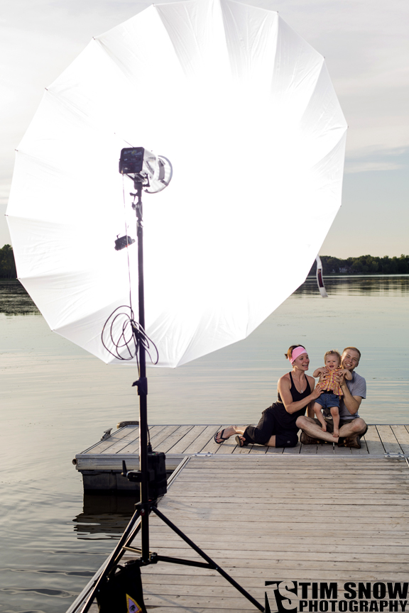 """The new Photoflex 72"""" Umbrella is great for family photographs"""